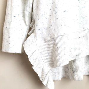 Anthropologie Sweaters - Anthro Postmark Ruffle Hem Heather Sweater